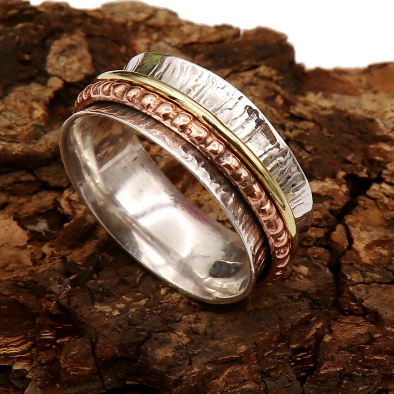Spinner Ring Solid 925 Sterling Silver Band Meditation Ring All Size Men Women Gift Item Statement Ring GESR04