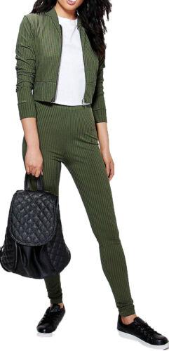 Donna Costine Abbigliamento E Da Set Zip Giubbino Bomber Leggings Comodo Tuta A 6pqxwF