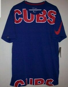 Competencia En el nombre pecho  Nuevo Nike Mlb Chicago Cubs de béisbol Dri-fit Camisa Camiseta Azul de la  Nike para Hombres Talla XL | eBay