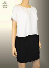 NWT$240 BCBG MAX AZRIA Women Dress Size XL BLACK WHITE  Oversize Relaxed Dressy