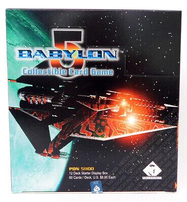 Babylon 5 CCG Premier Edition Starter Case Box 12 Decks 3 Each Race New Open Box