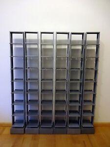 Cd Regal Metall Beton Grau 6 Stk Ca 96 Cds Pro Regal Ebay