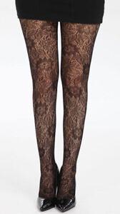 Patterned-Tights-Open-Leaf-Knit-One-Size-UK-Size-8-14-Pamela-Mann