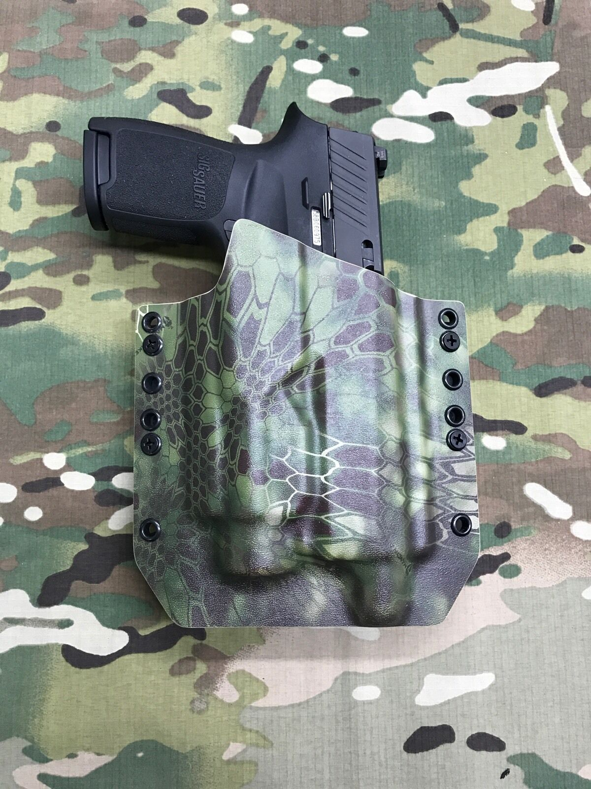 Kryptek Mandrake TLR-2 KydexHolster Sig P250 Compact Threaded Barrel Streamlight TLR-2 Mandrake 037f94