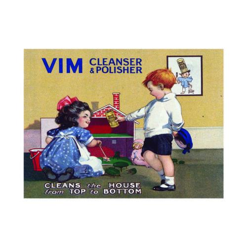 Vintage Vim Metal Sign Ajax Cleaning Metal Plaque Kitchen Retro advertising sign