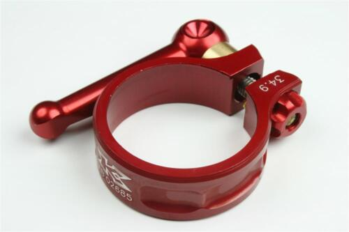KCNC SC10 QR Seatpost Clamp Ti Axis Red 34.9mm