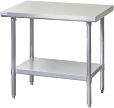 New 24x12 Work Table Nsf Stainless Steel Top 18 Gauge Galvanized Bottom 6703