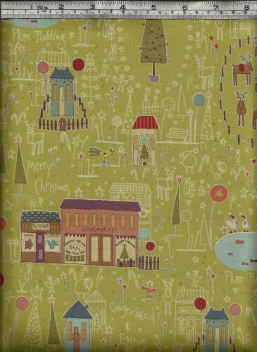 /'Hometown Holiday/' by Anni Downs 100/% Cotton Fabric Henry Class