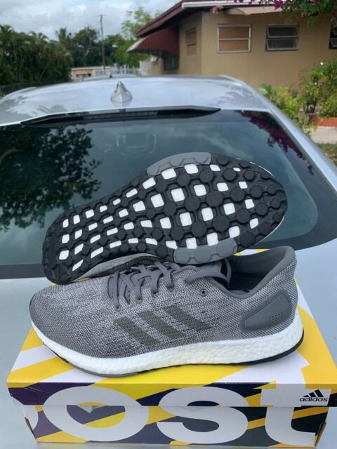 Adidas Men's PureBoost DPR Shoes NEW AUTHENTIC Grey White Black BB6290 Size 9.5
