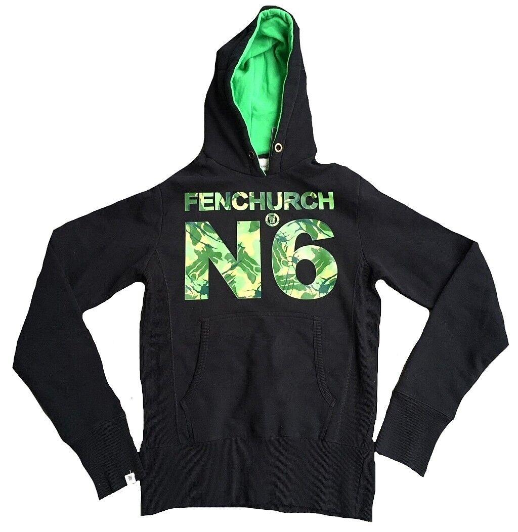 Rare sin Uso Auténtico Fenchurch N 6 Camuflaje Estampado Capucha Hoodie Camisa S
