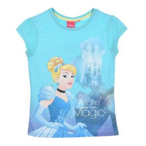 DISNEY-t-shirt-manches-courtes-PRINCESSES-Cendrillon-3-4-5-ou-6-ans-bleu-NEUF