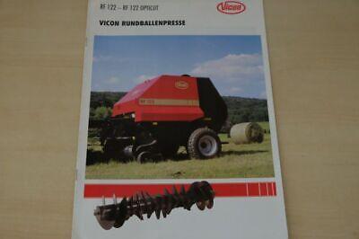 200447) Vicon - Rundballenpresse Rf 122 - Prospekt 02/1998