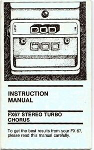 DOD-FX-67-Effects-Pedal-Instruction-Manual-Very-Good-Condition