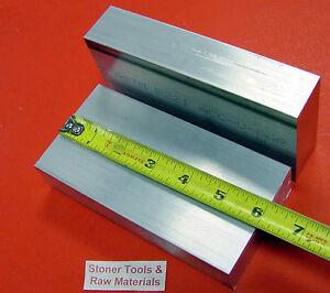 "2 Pieces 1-1/4"" X 3"" ALUMINUM 6061 FLAT BAR 6"" long T6511 1.250 Plate Mill Stock"