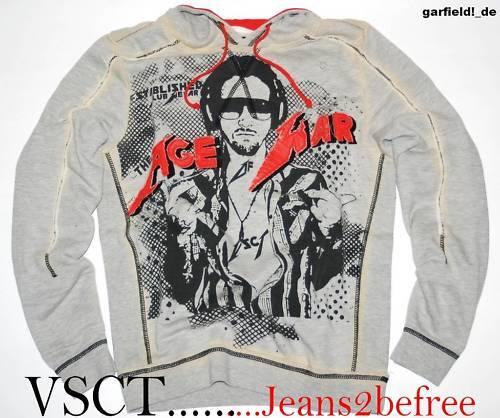 VSCT Clubwear Sweatshirt Gr.XL Age of War Grau Hoodie Clubstyle Hoody  NEU