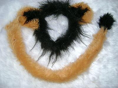 Scar From Lion King Ears And Long Tail Set Luxury Faux Fur Fancy Dress One Size