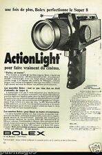 Publicité advertising 1974 La caméra Bolex Super 8