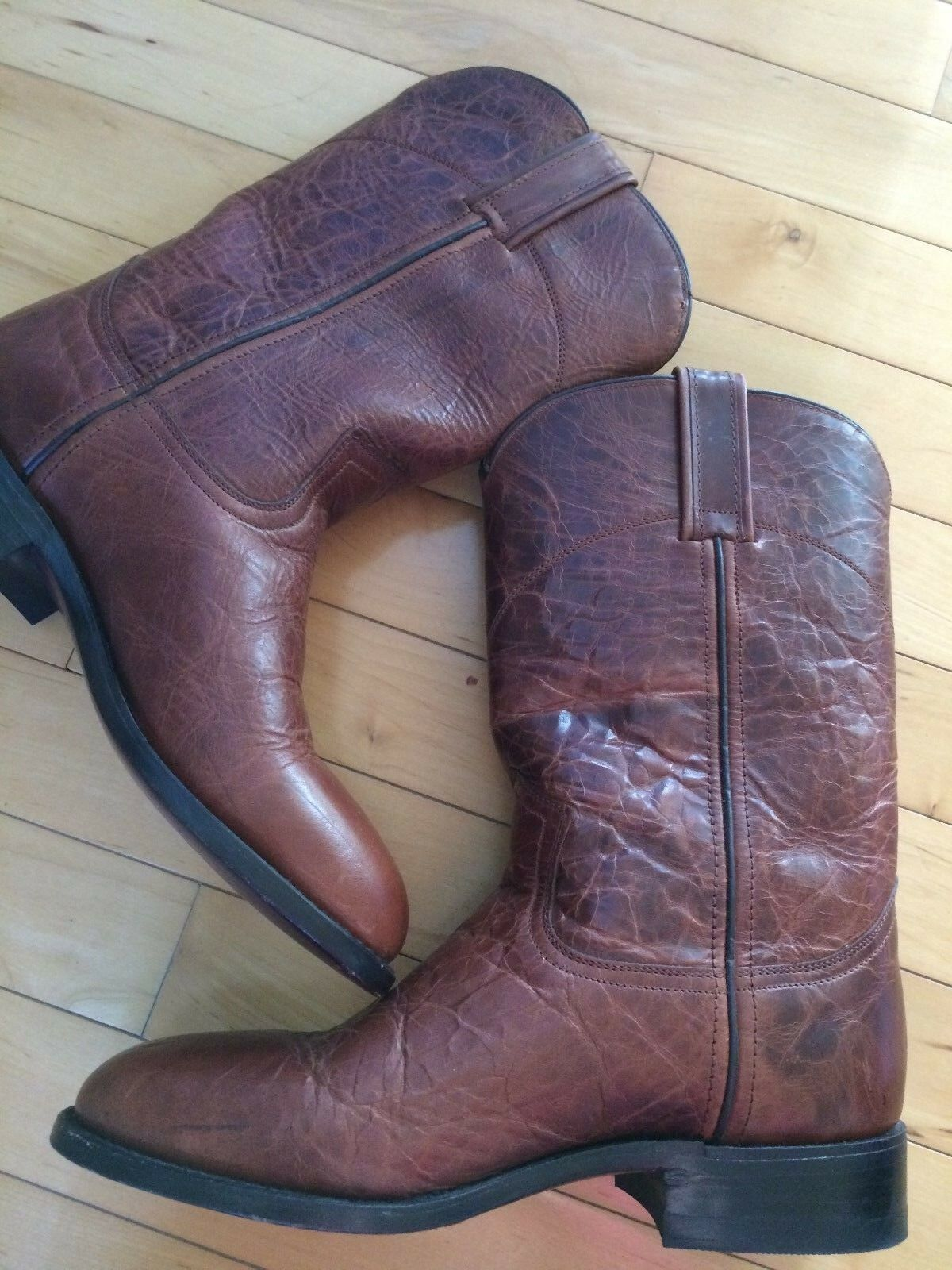 28ebdecb9a2 CABORCA Western Rodeo Roper Boots Distressed Brown Brown Brown ...