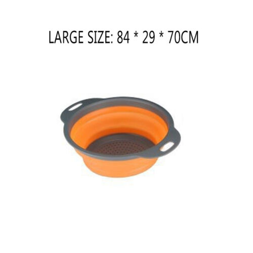 Foldable Vegetable Fruit Washing Basket Drain Strainer Colander Kitchen Utensil
