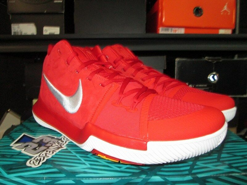 SALE NIKE KYRIE III 3 UNIVERSITY RED 7.5-13 SUEDE 852395 601 SZ 7.5-13 RED NEW IRVING b02e46