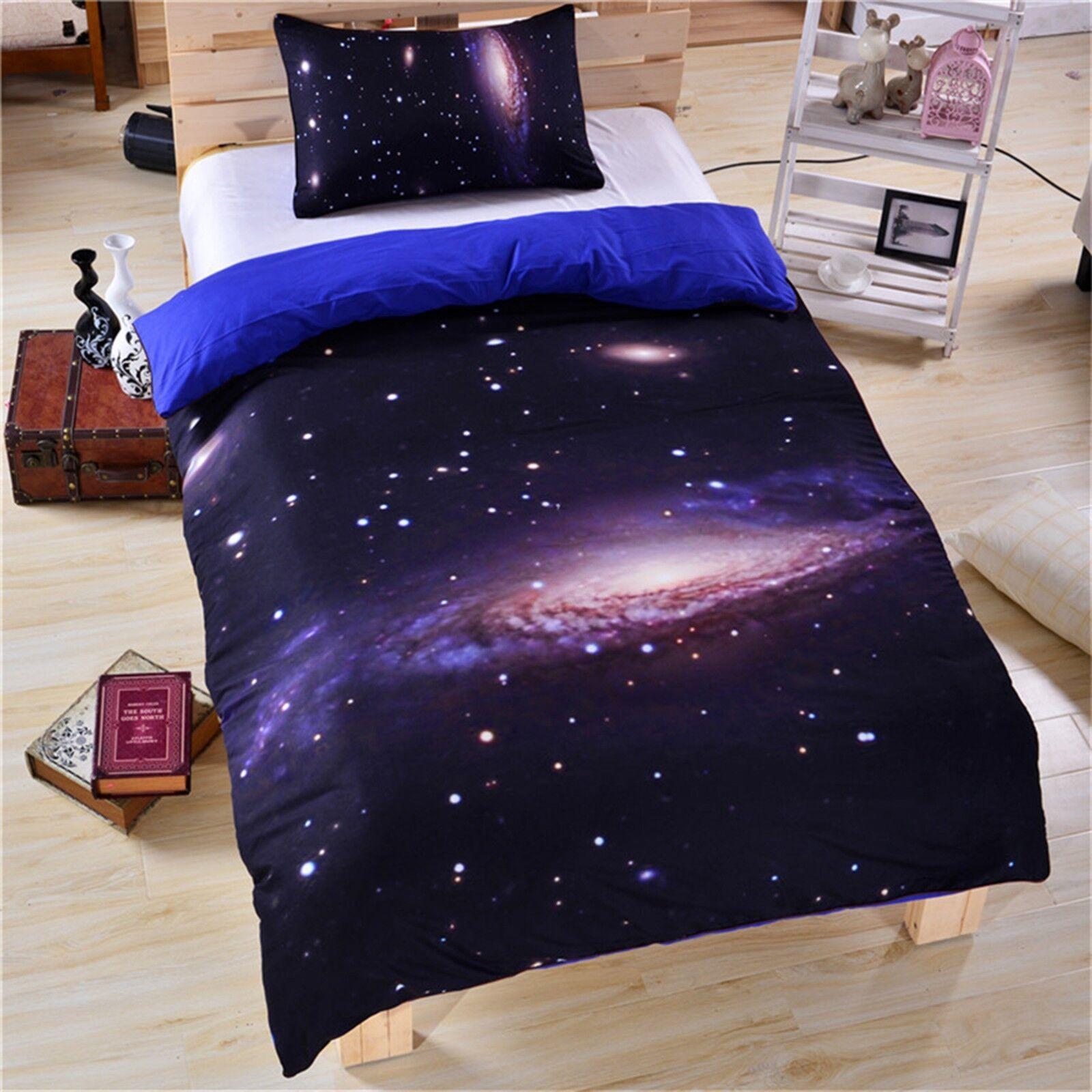 3D Universe Planet 41 Bed Pillowcases Quilt Duvet Cover Set Single Queen CA