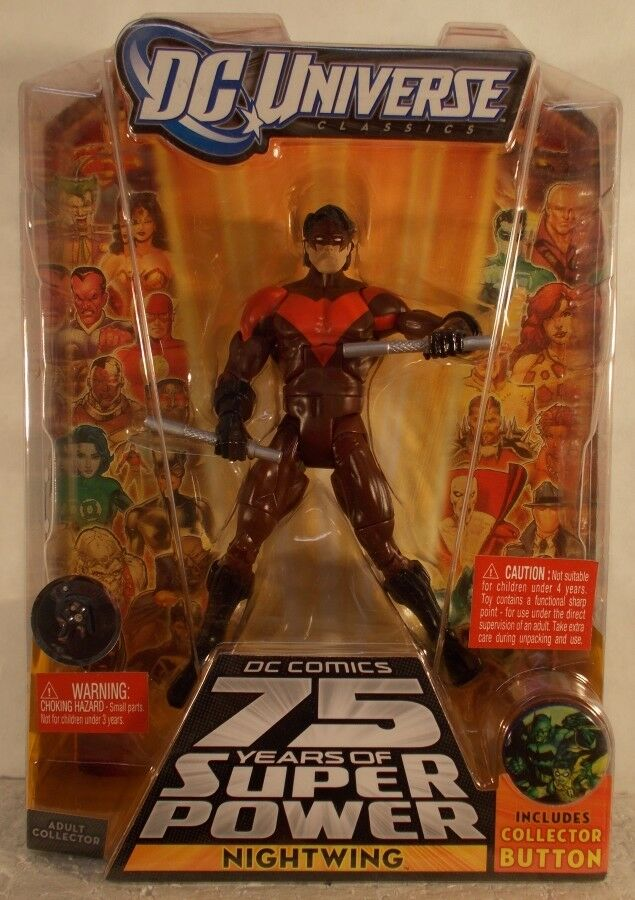DC Universe DCU Nightwing Rengade All Star Includes Collector Button  MISP