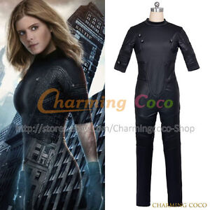 Image is loading Fantastic-Four-2015-Film-Cosplay-Invisible-Woman-Susan-  sc 1 st  eBay & Fantastic Four 2015 Film Cosplay Invisible Woman Susan Storm Costume ...