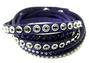 8312aa1f1 Image is loading SLAKE-ROCK-PURPLE-BRACELET-2014-SWAROVSKI-JEWELRY-RETIRED-