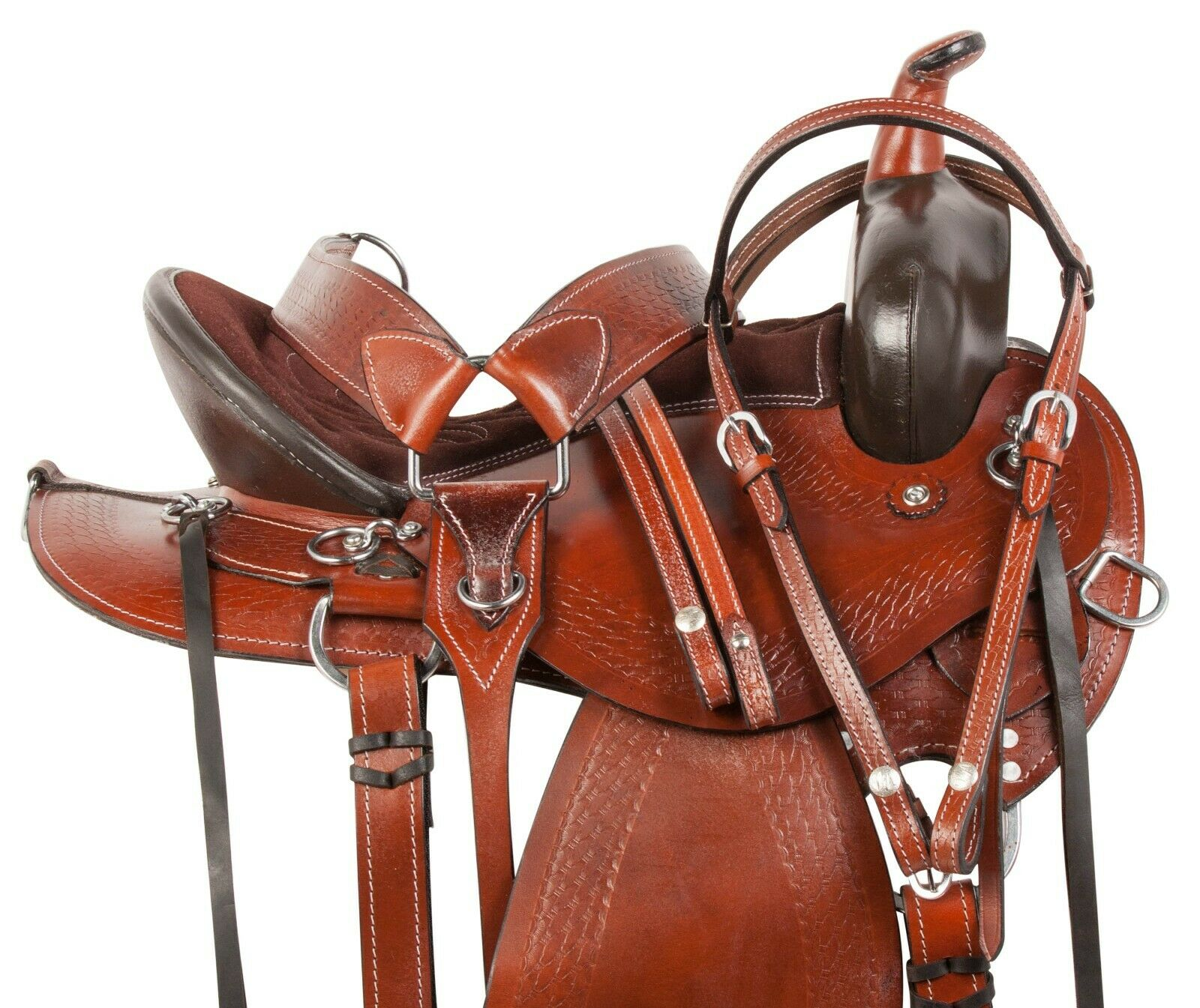 15   16  17  18  WESTERN HORSE BARREL RACING LEATHER PLEASURE TRAIL SADDLE NEW  in stadium promotions