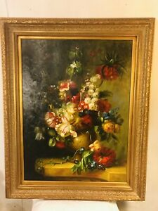 Painting-Oil-On-Canvas-47-034-X40-034-signed-Watkins-See12pix4details-amp-size-MAKE-OFFER