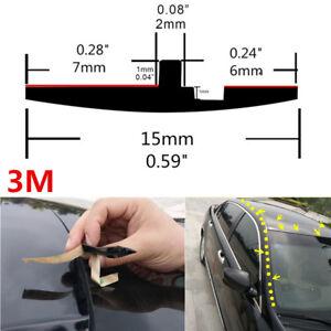Neu-3m-Gummidichtung-Auto-Schiebedachdichtung-Windschutzscheibe-Regen-Dachleiste