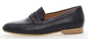 Details zu GABOR COMFORT 82.444.66 klassische Damenschuhe Slipper Trotteur, Blau Leder NEU
