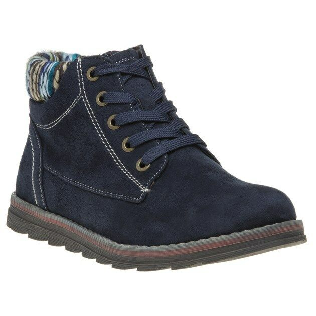 New Womens Lotus bluee Sequoia Microfibre Boots Ankle Lace Up Zip