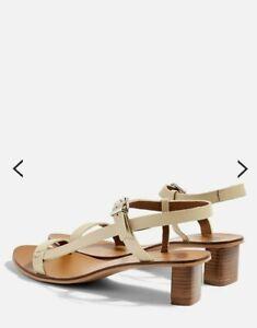 Topshop wide fit venus cream sandals
