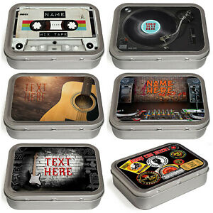 Personalised Music Tobacco Tin 2oz Baccy Fathers Day Cigarette Birthday Gift