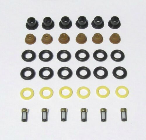 CHRYSLER BOSCH MITSUBISHI V6 FUEL INJECTOR O'RINGS SEALS PINTLE CAPS FILTERS
