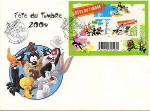 Fdc / Premier Jour Fete Du Timbre 2009 / Looney / Warner Bros N° F4341 / Avignon RafraîChissement