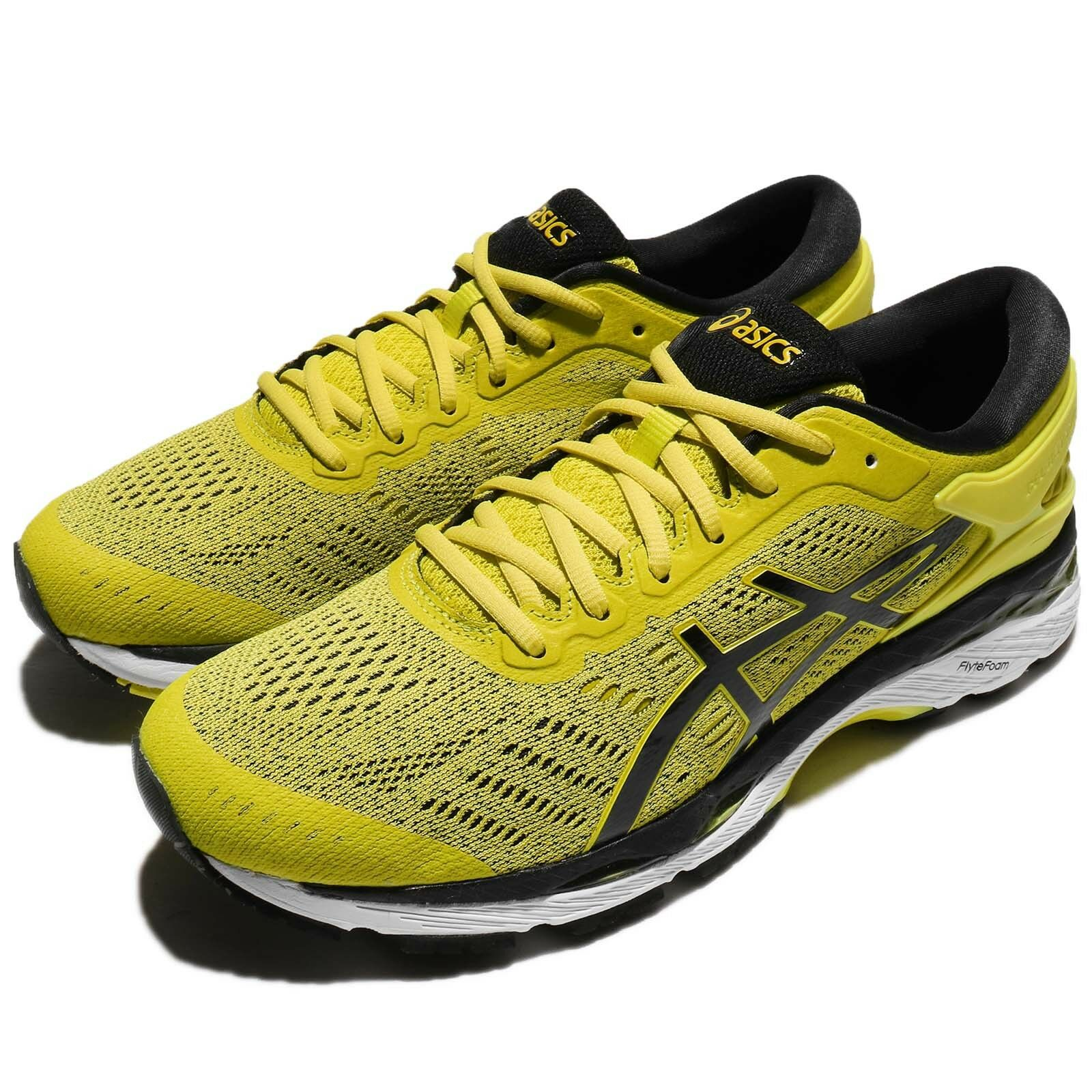 Asics Gel-Kayano 24 Sulphur Yellow Black Men Running Shoes Trainers T749N-8990