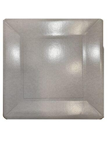 50 Stück eckige einweg Kuchenteller Pappteller einweg Teller 25 x 25 cm,H:1,8 cm