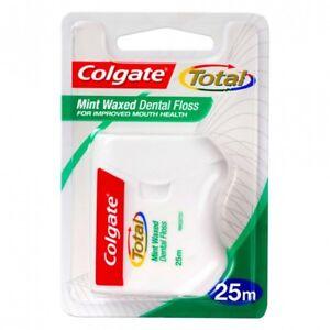 Colgate-Total-Dental-Floss-25m-NEW-Mint-Waxed