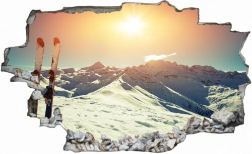 Fotografie Skigebiet Sonne Winter Wandtattoo Wandsticker Wandaufkleber C1912