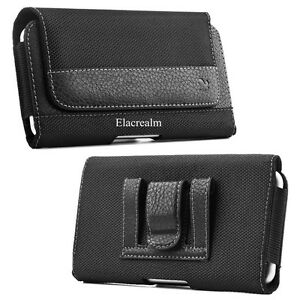 Leather-Horizontal-Belt-Clip-Case-Pouch-Cover-Holster-for-Iphone-Samsung-Phones