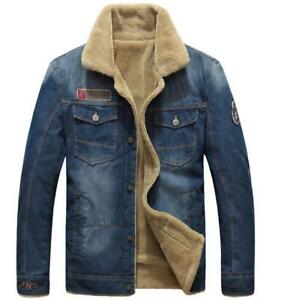 ea76f838dcc New Autumn and Winter Men's Fashion Thick Wool Warm Thickening Denim ...