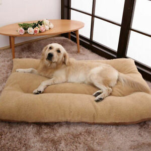 Large-Dog-Bed-Puppy-Pets-Cat-Cushion-Pillow-Mattress-Warm-Soft-Fleece
