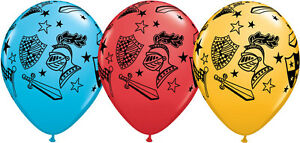 KNIGHT-amp-ARMOUR-BALLOONS-10-x-11-034-QUALATEX-MIKE-THE-KNIGHT-LATEX-BALLOONS