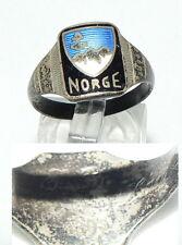 alter Ring 830er Silber Kriegsmarine Norwegen, Gr. 58/Ø 18,5 mm  (da4451)