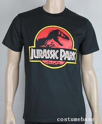 JURASSIC PARK T-shirt Costume logo movie Dinosaur Black