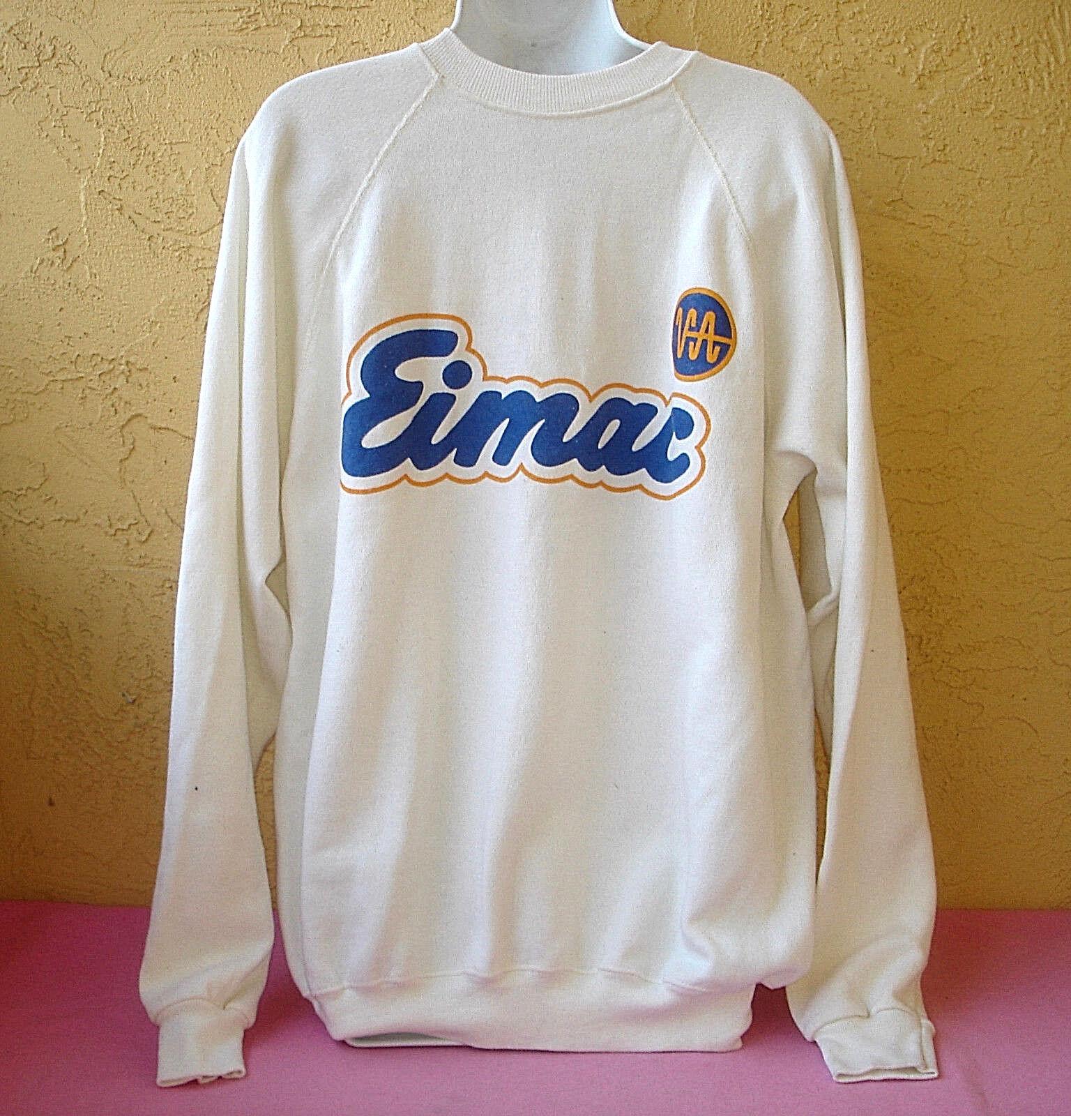 Varian Associates EIMAC Weiß Sweatshirt  XL  Vacuum Tubes Radio Frequency Men