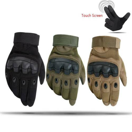 Touch Screen Full Finger Gloves Military Tactical Airsoft Outdoor Hard Knuckle