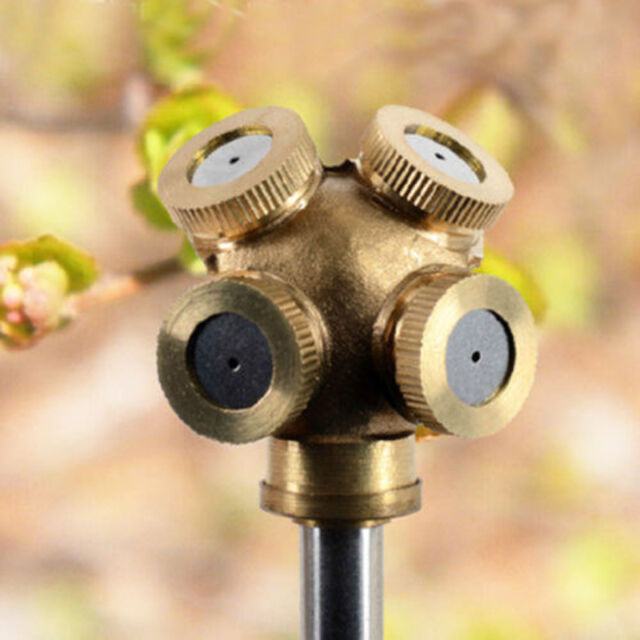 Adjustable Brass Spray Misting Nozzle Garden Sprinklers Irrigation Fitting